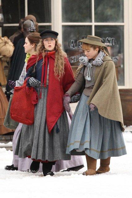 Маленькие женщины: Эмма Уотсон и Сирша Ронан на первых кадрах ленты - фото 157892