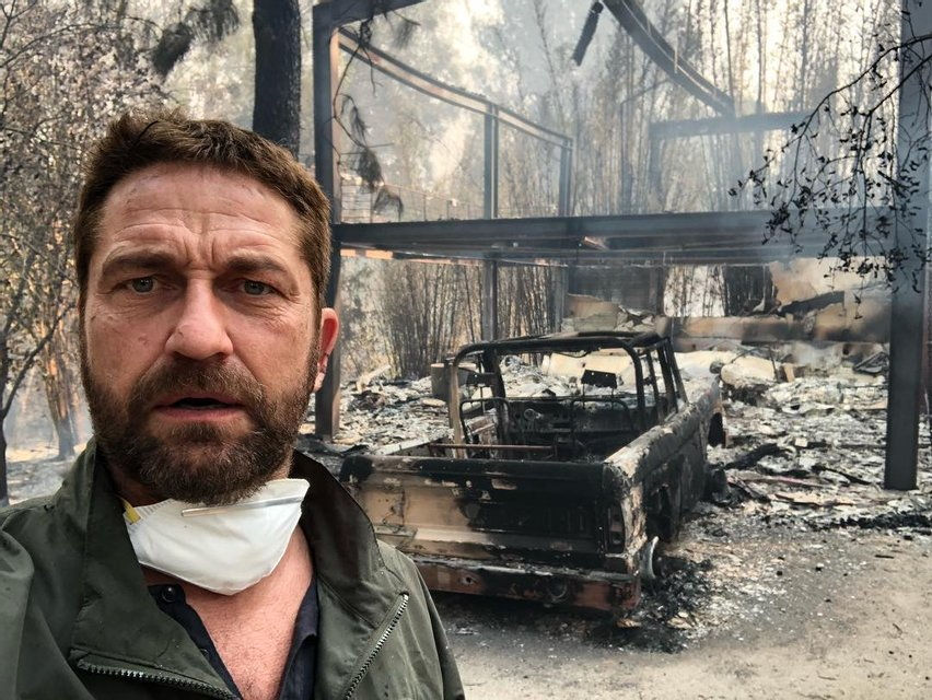 Голливуд в огне: звезды показали свои сгоревшие дома - фото 158633