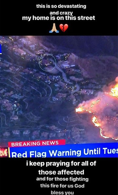 Голливуд в огне: звезды показали свои сгоревшие дома - фото 158635