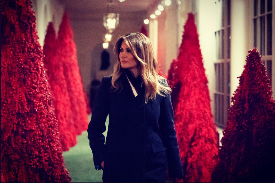 Американцы раскритиковали Меланию Трамп за выбор рождественского дизайна для Белого дома - фото 161699