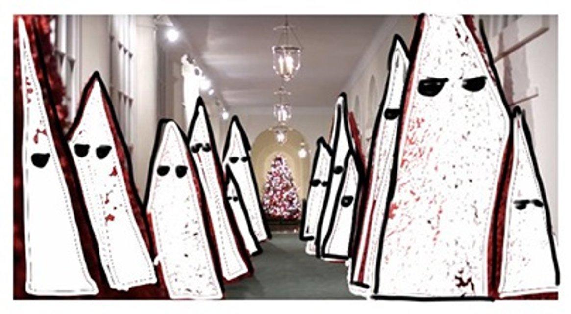 Американцы раскритиковали Меланию Трамп за выбор рождественского дизайна для Белого дома - фото 161700