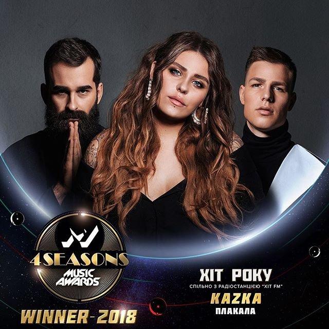 M1 Music Awards 2018. 4 Seasons: KAZKA - победитель 'Хит года' - фото 162449