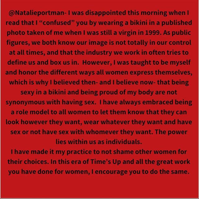 Натали Портман поссорилась с Джессикой Симпсон из-за бикини - фото 163158