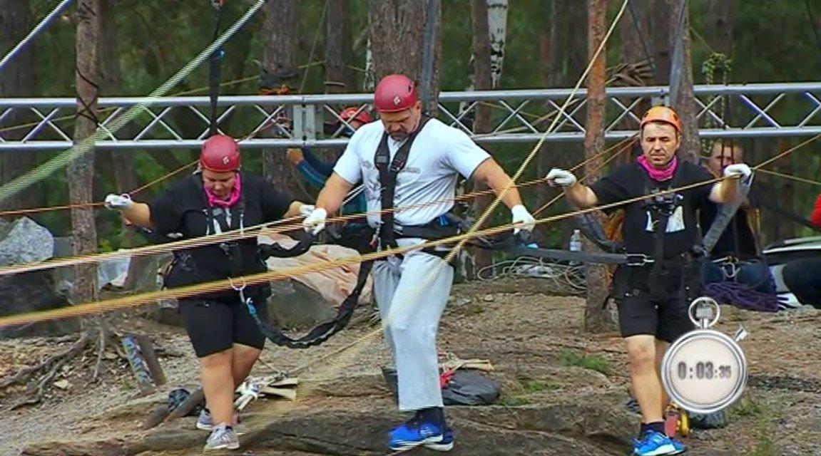 Зважені та щасливі 8 сезон 15 выпуск: Василий Вирастюк со своей командой в экстремальном испытании - фото 163303
