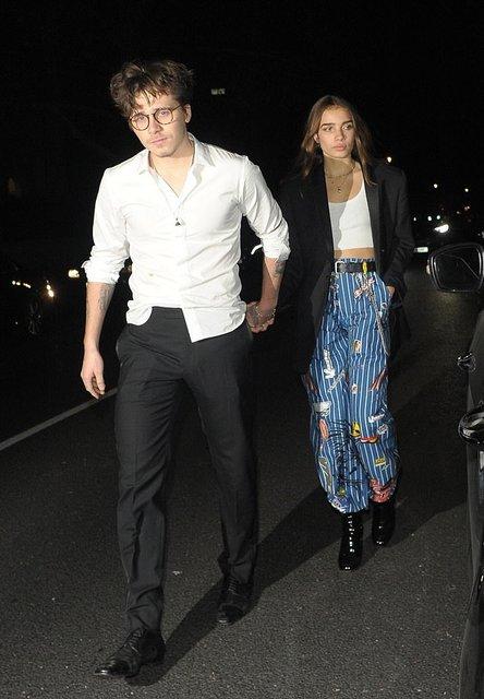 Бруклин Бекхэм сбежал с новой девушкой с вечеринки после British Fashion Awards - фото 163975