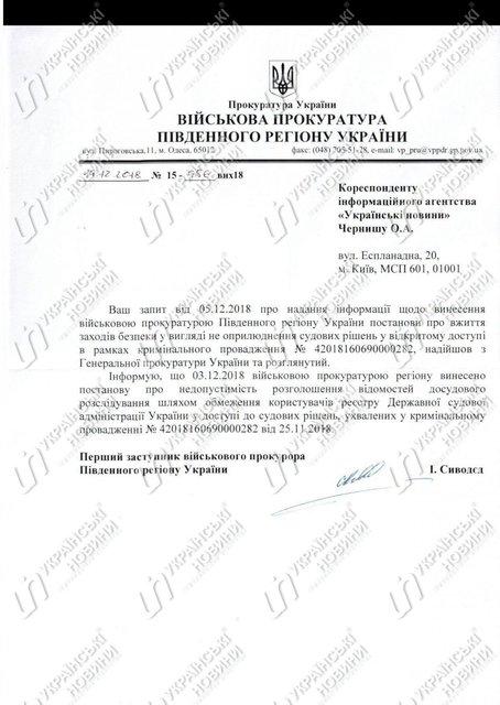Военная прокуратура засекретила материалы дела об атаке в Керченском проливе - фото 166242