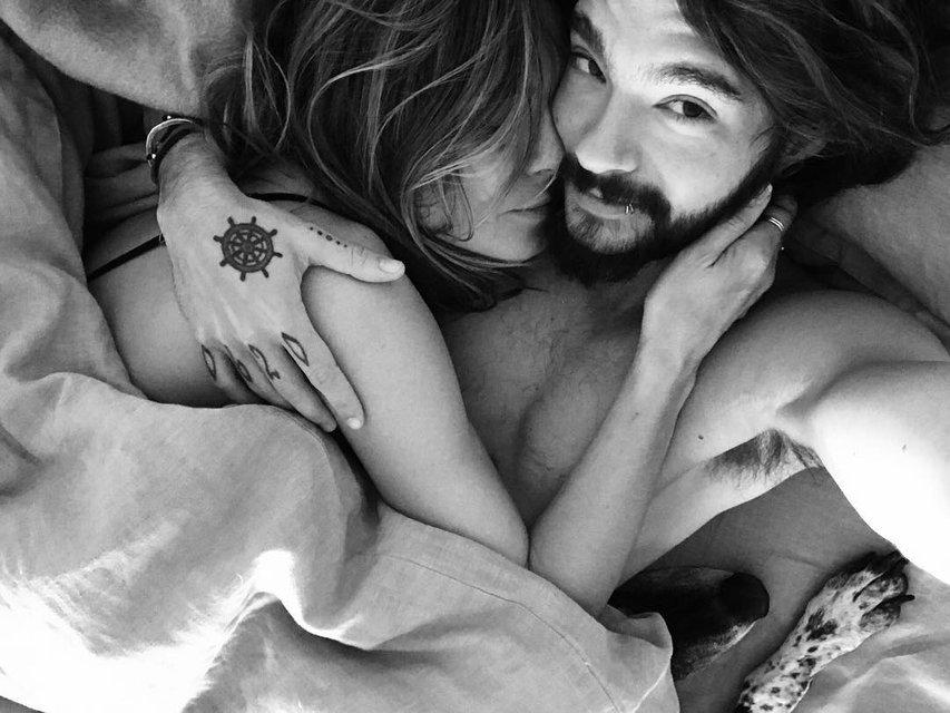 Хайди Клум снялась в постели с женихом - фото 166665