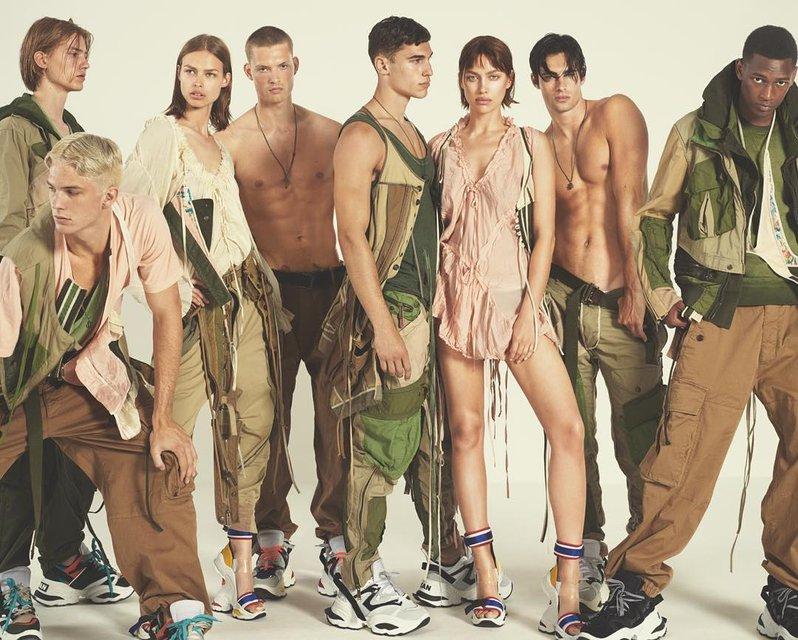 Ирина Шейк в компании полуголых парней снялась для модного бренда - фото 167832
