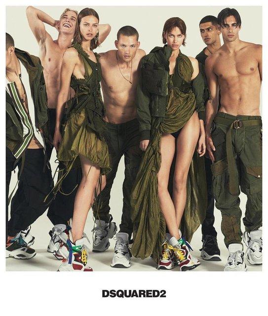 Ирина Шейк в компании полуголых парней снялась для модного бренда - фото 167833