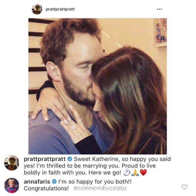 Как экс-супруга Криса Прэтта отреагировала на его помолвку - фото 168188