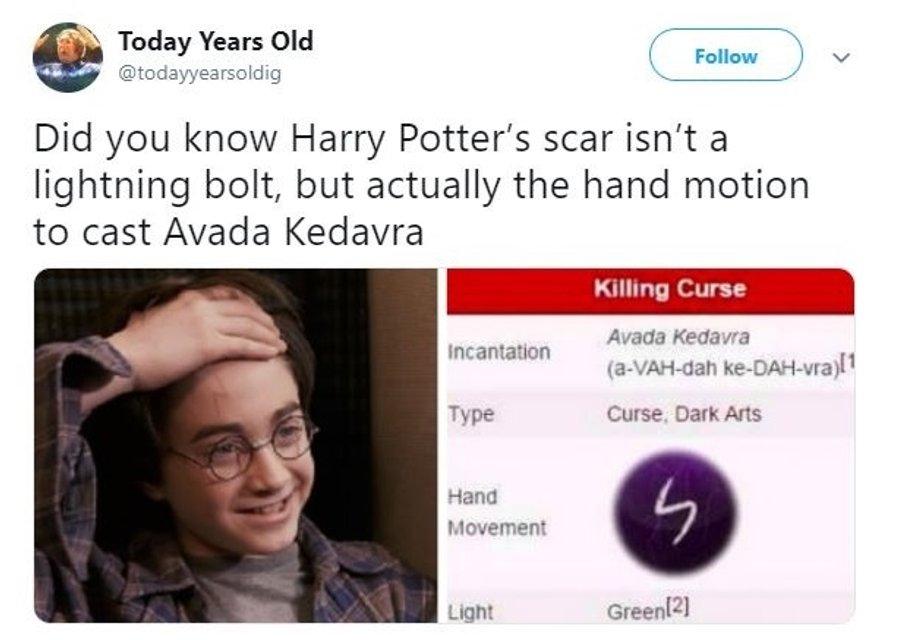 Будете удивлены: пользователи узнали значение шрама Гарри Поттера - фото 168510