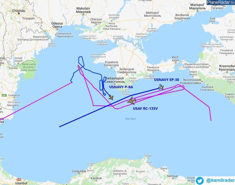 Штаты впервые отправили сразу три самолета-разведчика на патрулирование Черного моря - фото 170238