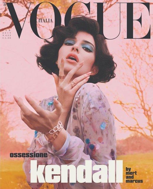 Кендалл Дженнер полностью разделась для модного глянца - фото 170834