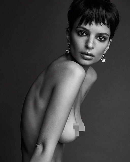 Эмили Ратажковски показала голую грудь в новой фотосессии - фото 171091