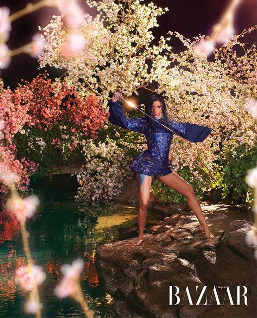 В образе Рапунцель и не только: Карди Би снялась в сказочной фотосессии - фото 171746