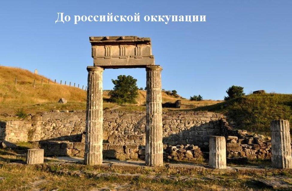 В оккупированном Крыму во время раскопок Пантикапея рухнули древние колонны (ФОТО+ВИДЕО) - фото 172291