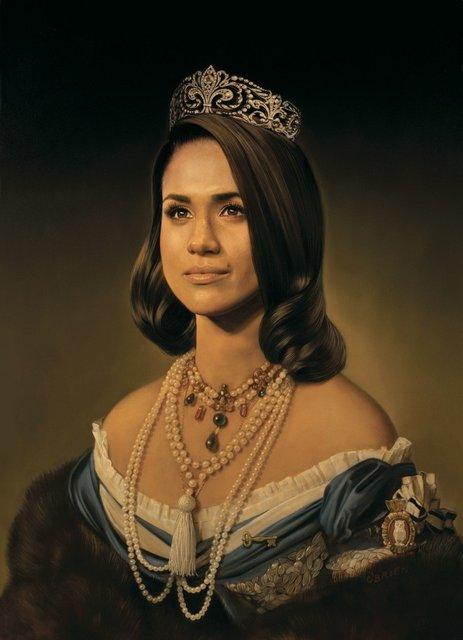 Портрет Меган Маркл в образе Моны Лизы набирает популярности в сети - фото 173446