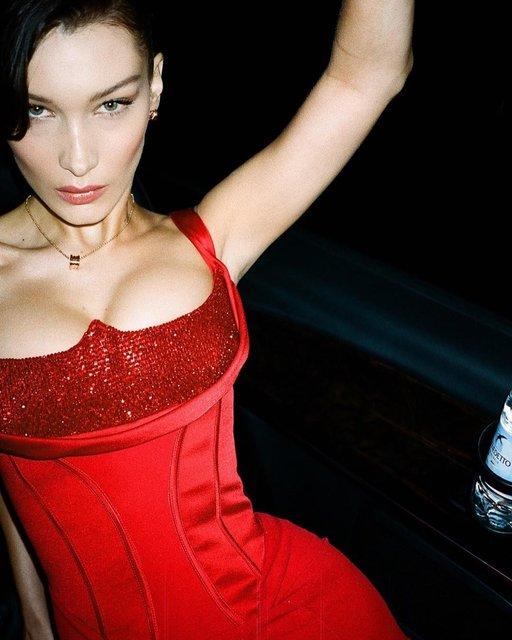 Супермодель Белла Хадид блеснула пышной грудью - фото 173484