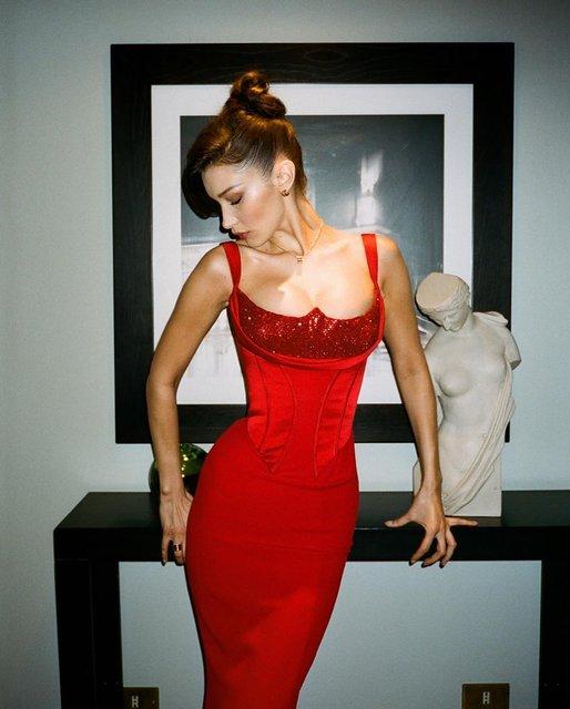 Супермодель Белла Хадид блеснула пышной грудью - фото 173485