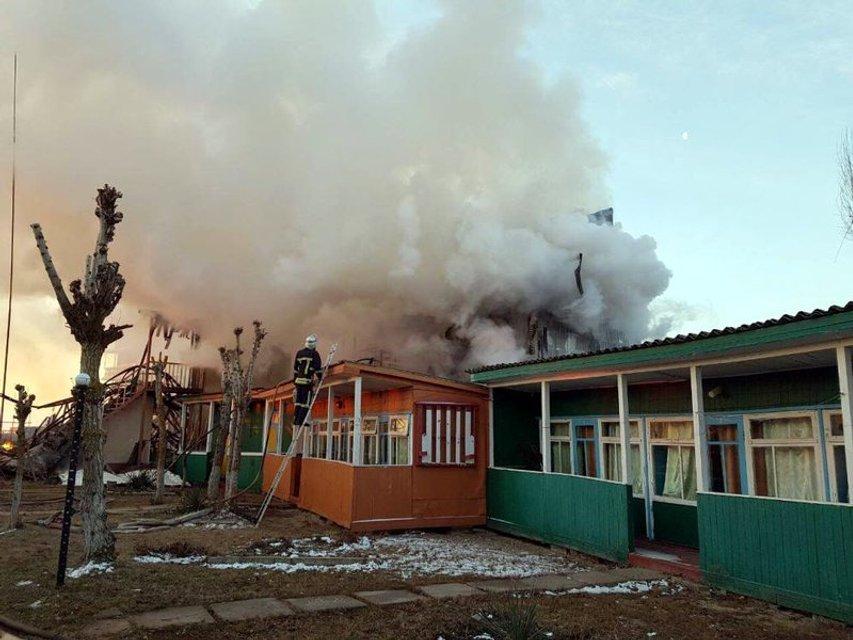 В Затоке пожар уничтожил незаконные 20 корпусов двух баз отдыха (ФОТО) - фото 173816