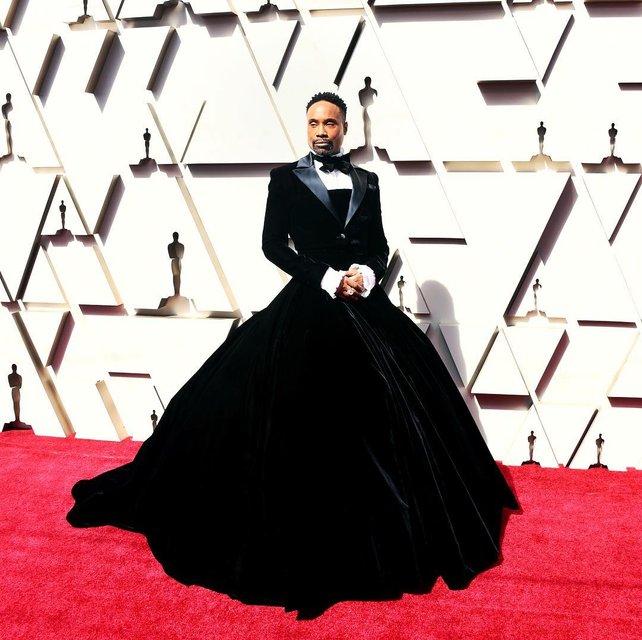 Оскар 2019: актер Билли Портер пришел на премию в пышном платье - фото 173852