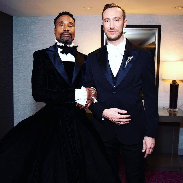 Оскар 2019: актер Билли Портер пришел на премию в пышном платье - фото 173853