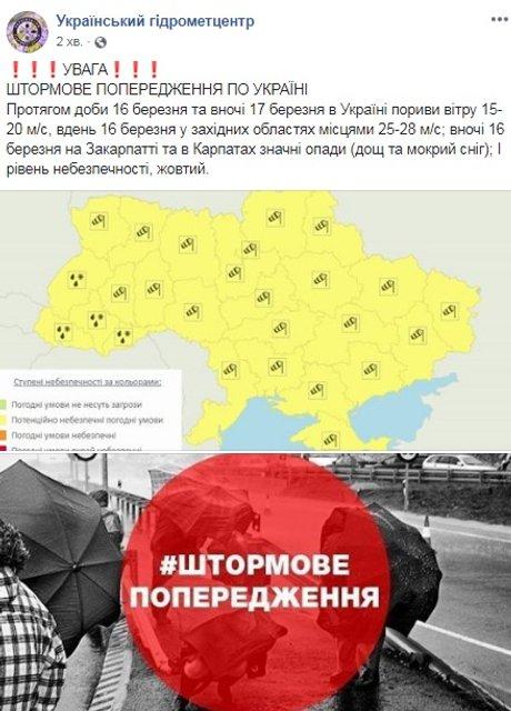 Снова ураган: в Украине штормовое предупреждение - фото 176396