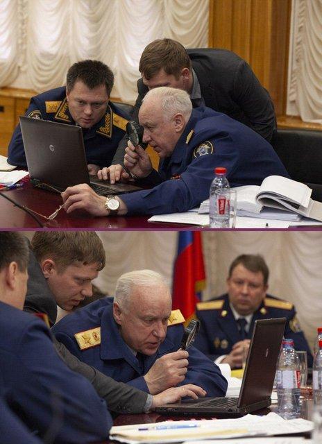 Следопыт: главарь Следственного комитета РФ смотрел на фото в ноуте с помощью лупы (ВИДЕО) - фото 176691