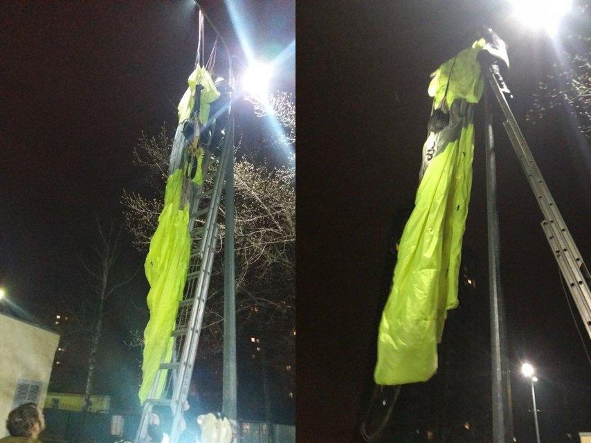 Киевлянин прыгнул с 30-этажки и повис на фонаре ФОТО - фото 176994