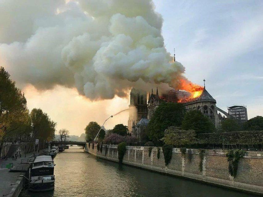 Собор Парижской Богоматери едва не сгорел дотла (ФОТО и ВИДЕО) - фото 179503