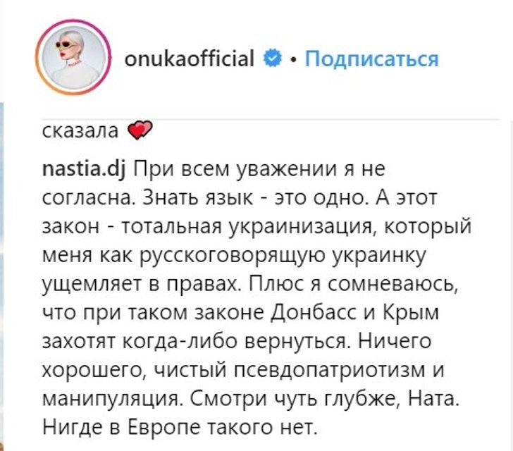 Жена нардепа Лещенко назвала принятие языкового закона 'псевдопатриотизмом' и манипуляцией - фото 180238