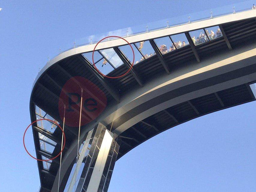 Мост Кличко устал на второй день работы - фото 181638