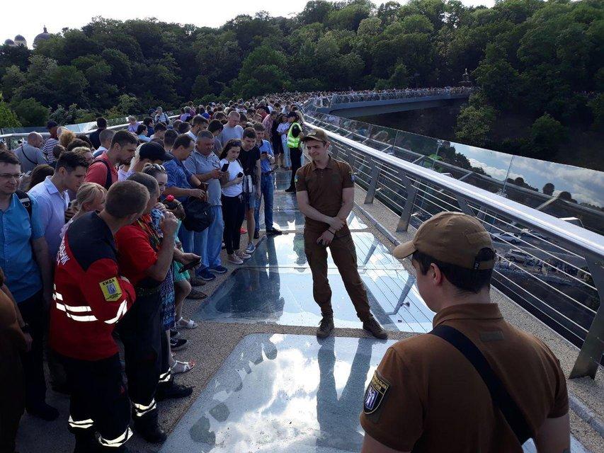 Мост Кличко устал на второй день работы - фото 181641