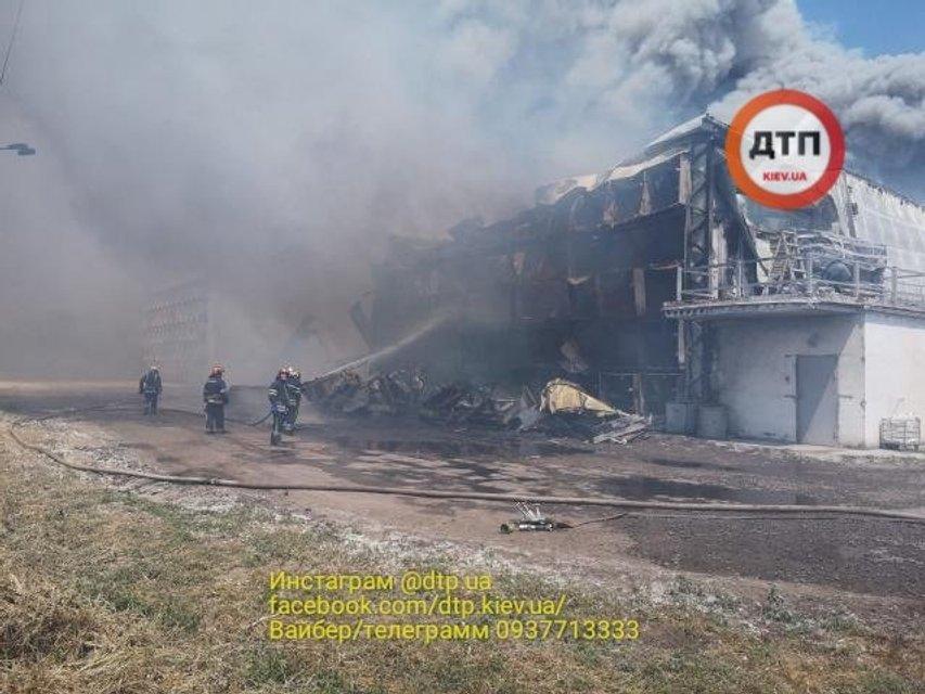 Дым виден из Киева: в Василькове масштабно горит птицефабрика (ФОТО+ВИДЕО) - фото 182132