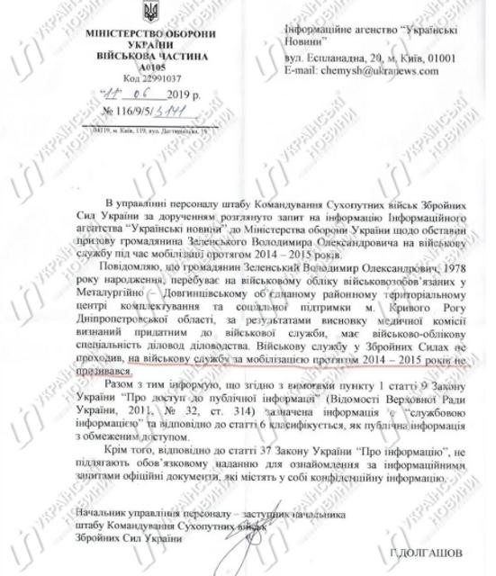 Зеленский не косил от армии – Минобороны - фото 182905