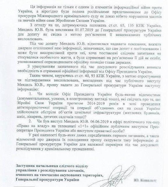 Пресс-секретарь Зеленского отказалась давать показания в ГПУ - фото 183696