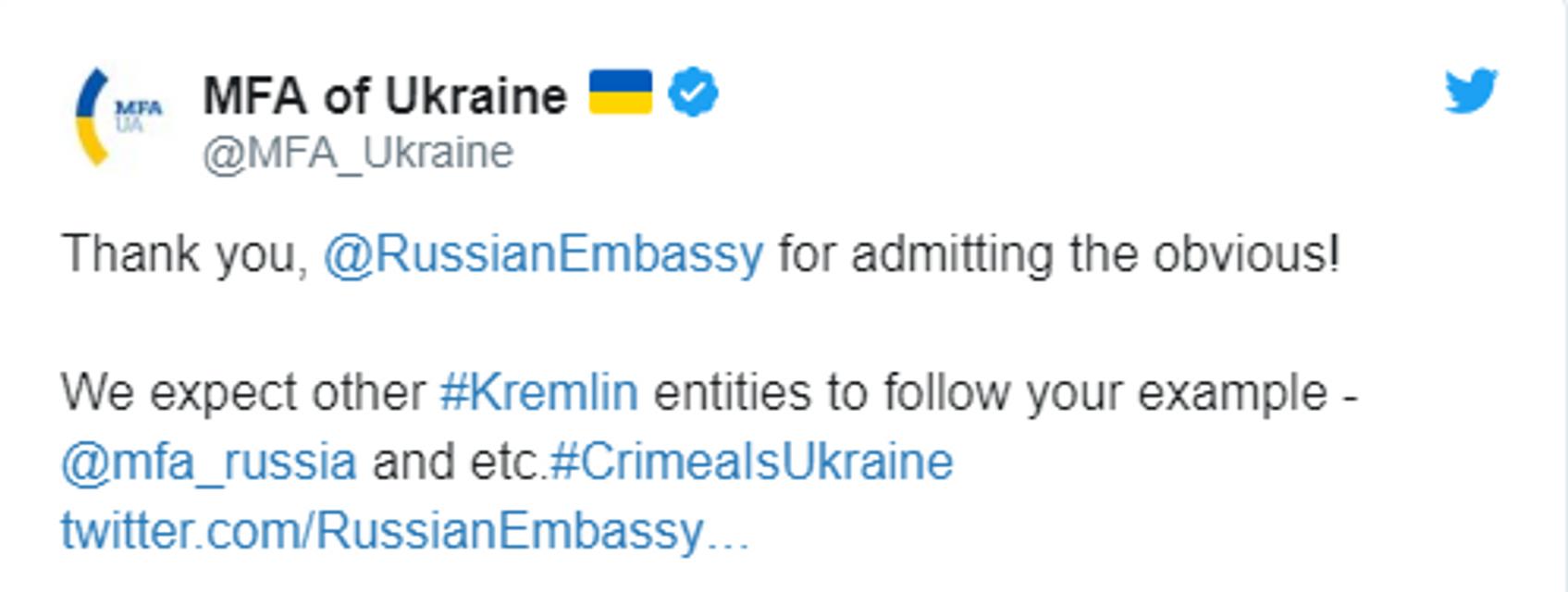 Посольство РФ признало Крым Украиной   - ФОТО - фото 184573