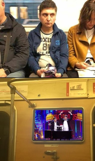 'Зеленского' заметили в метро – яркие ФОТО  и МЕМЫ - фото 186085