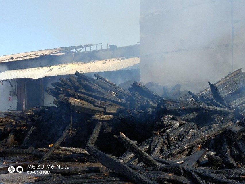 В Полтаве сгорел огромный склад 'Новой почты' (ФОТО+ВИДЕО) - фото 186385