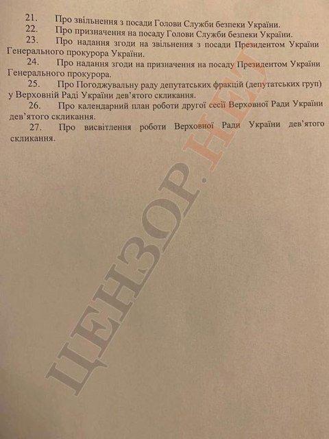 Объявление премьера и увольнение главы СБУ: опубликована повестка первого дня Рады - фото 186724