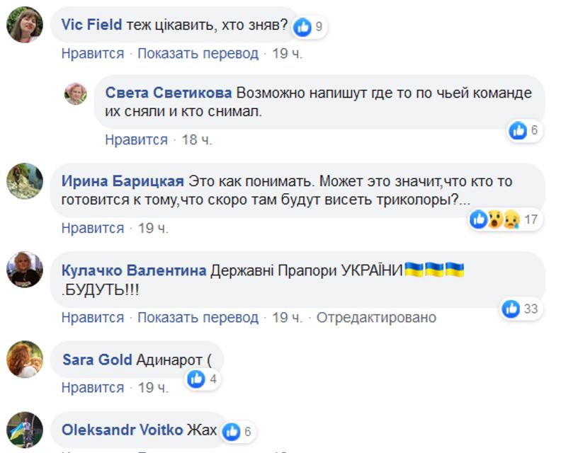 В Станице Луганской сняли украинские флаги. Сеть разорвало от ярости - ФОТО - фото 187260