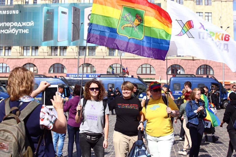 KharkivPride: Полиция доминировала и над сторонниками ЛГБТ, и над противниками - фото 187794