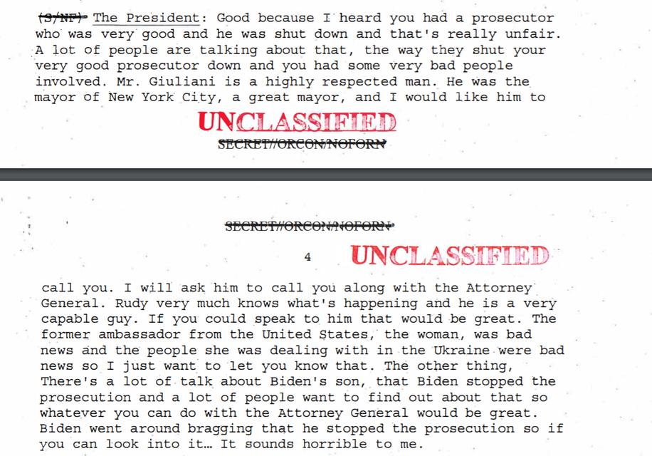 Белый дом опубликовал запись разговора Трампа с Зеленским: импичменту быть - фото 188447