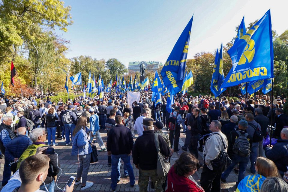 В Киеве ветераны проводят марши-протесты против инициатив Зеленского (ФОТО+ВИДЕО) - фото 189587
