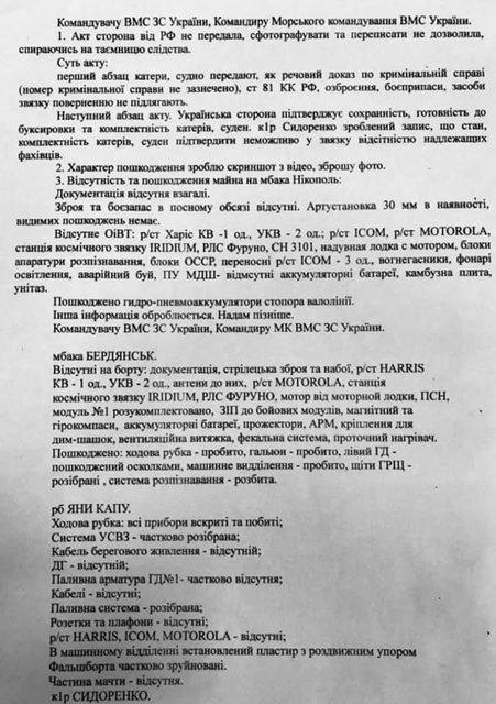 Даже фекальная система: опубликован список разграбленного на украинских кораблях - фото 191607