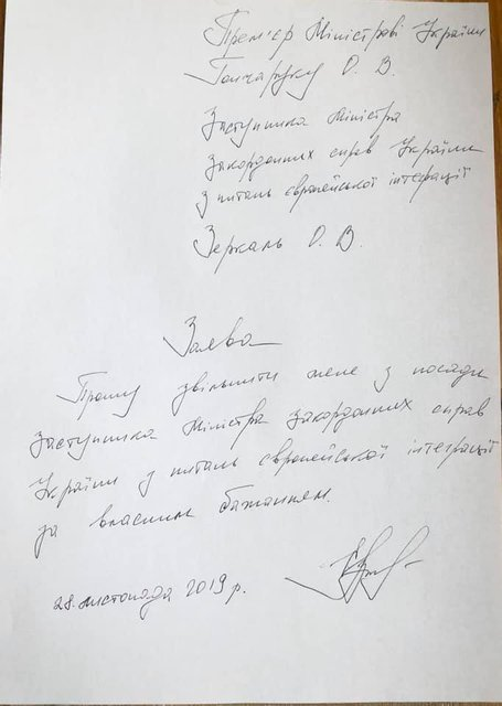 Замглавы МИД  Зеркаль подала в отставку – ФОТО - фото 192012