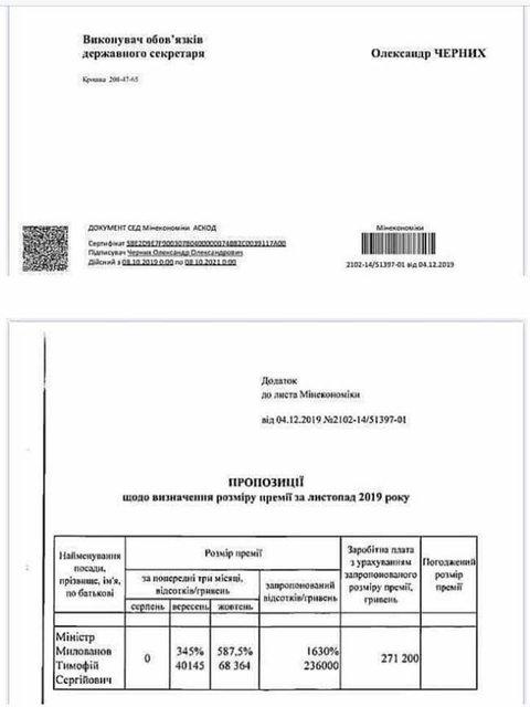 Министр Милованов получит 236 тыс грн премии – СМИ - фото 192649