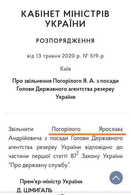 Кабмин уволил главу Госрезерва, который рассказал о продаже масок за границу (ФОТО) - фото 200067