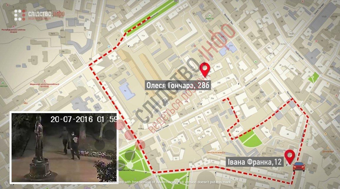 Дело Шеремета: менты изменили маршрут подозреваемых для подтверждения их вины - фото 200679