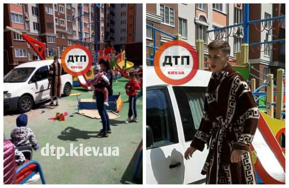 Под Киевом неадекват на машине разнес детскую площадку и сбежал (ФОТО) - фото 201035